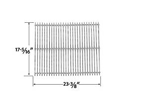 Stainless Steel Cooking Grid for Kalamazoo Pedestal, Steadfast, Kenmore 122.16538900, 16539, Kmart 640-82960811-6, Nexgrill 720-0679B and Weber 1100, 211298 Gas Grill Models