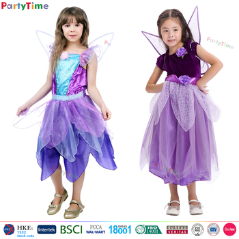 Wholesale kids princess dress with led lights holiday dresses wearing girls with wings fairy costume