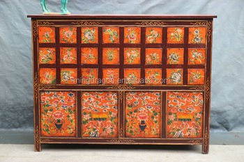 H1725 Hand Painted Antique Medicine Cabinet - Buy Hand Painted ...