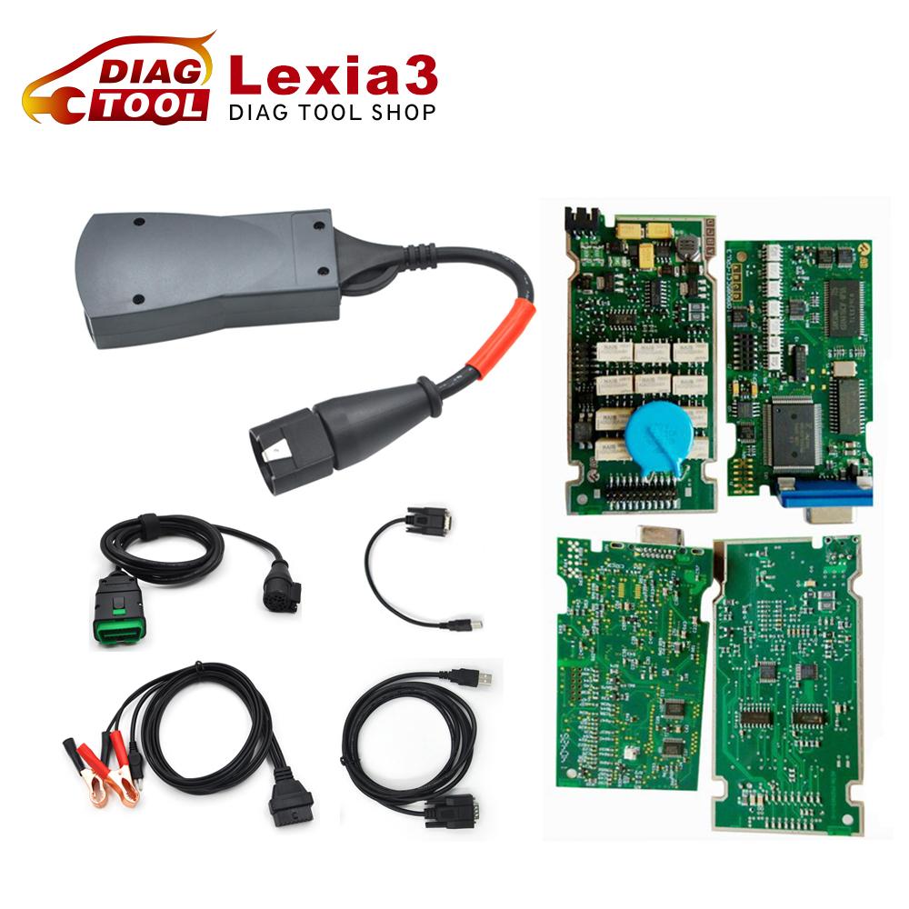 Dhl бесплатная полный чип Lexia 3 для полнофункциональный Lexia3 V48 PP2000 V25 Diagbox V7.65 для Citroen Peugeot Lexia-3 921815C прошивки