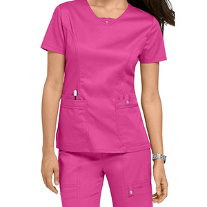 Wholesale Hospital Sexy Nursing Scrubs Uniform, 100% Polyester Scrubs