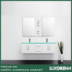 "Australia 60"" pure white cabinet luxury bathroom vanity"