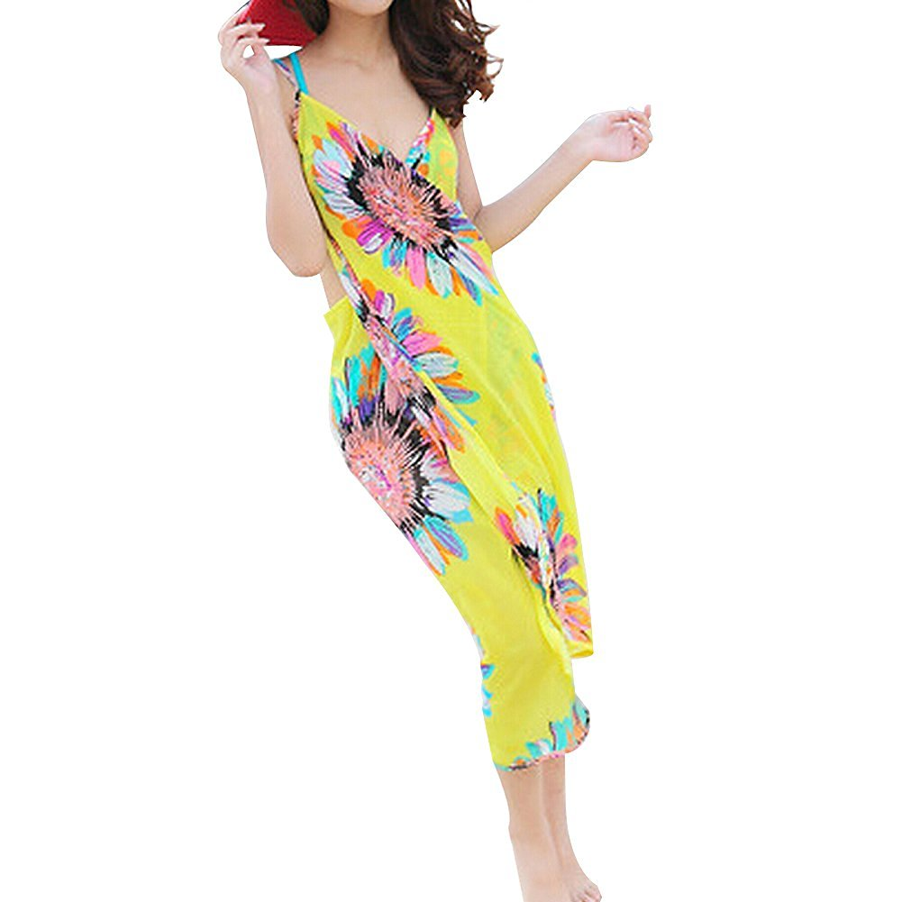 e6c1e073ba710 Get Quotations · MERSUII™Sexy Bikini One Piece Cover Up Bohemian Beach Wrap  Dress Scarves Pareo Beach Wrap