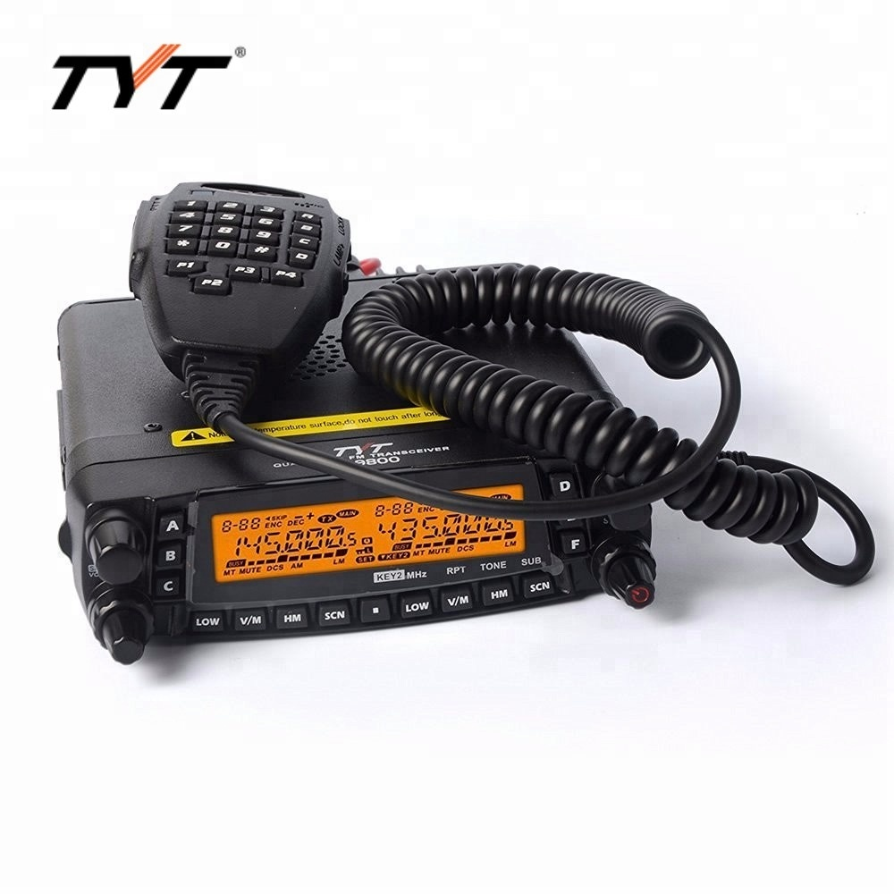 Nova versão !!! TYT TH-9800 50 W 809CH Quad Band transceptor Dual Display repetidor Car Truck Ham Radio