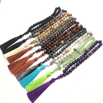 Muslim Rosary Natural Stone Bracelets Necklaces for Customize new designs religious wholesale muslim prayer rosary beads