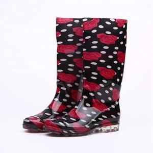 Stylish waterproof pvc boots rain women