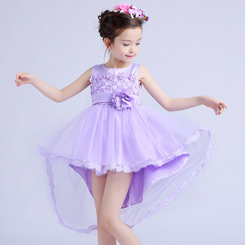 fashion modern girls christmas dresses flower party dress for 3 15 years old girls party - Girl Christmas Dresses
