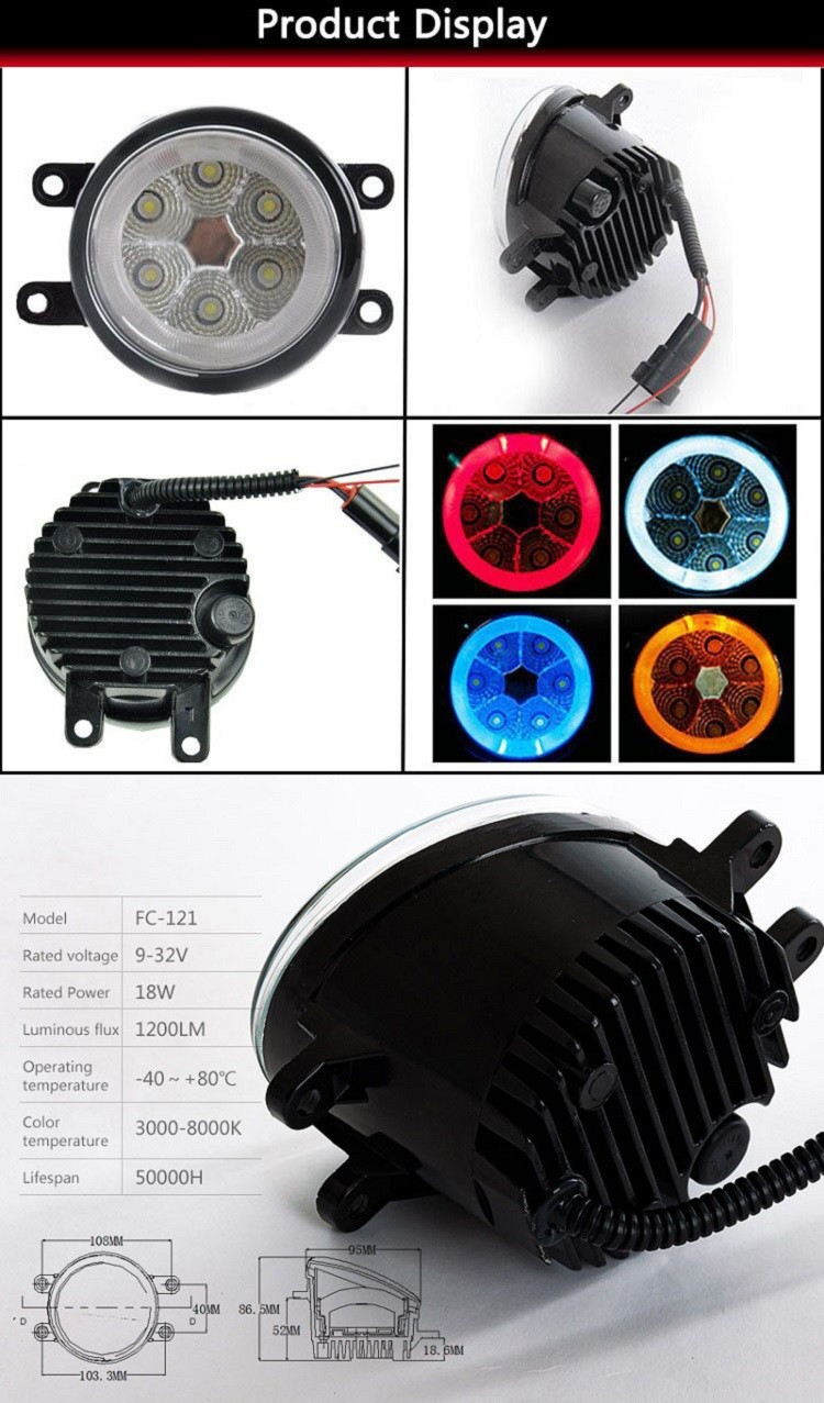 Universal LED Fog Light for Matrix 2008-2013 japan car accessories
