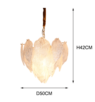 Mulberry Leaves Glass Pendant Lights for Home Hotel Villa Kitchen Hanging Lights