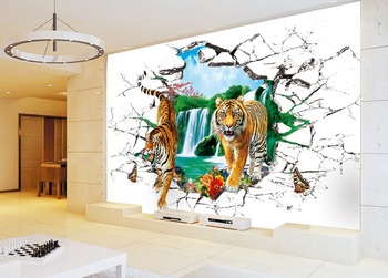 3d Tiger Wallpaper Animal Stereograph Wall Murals Wall Art Buy 3d