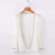 Lightweight cool breathable wholesale ladies spring knitted cardigan without button