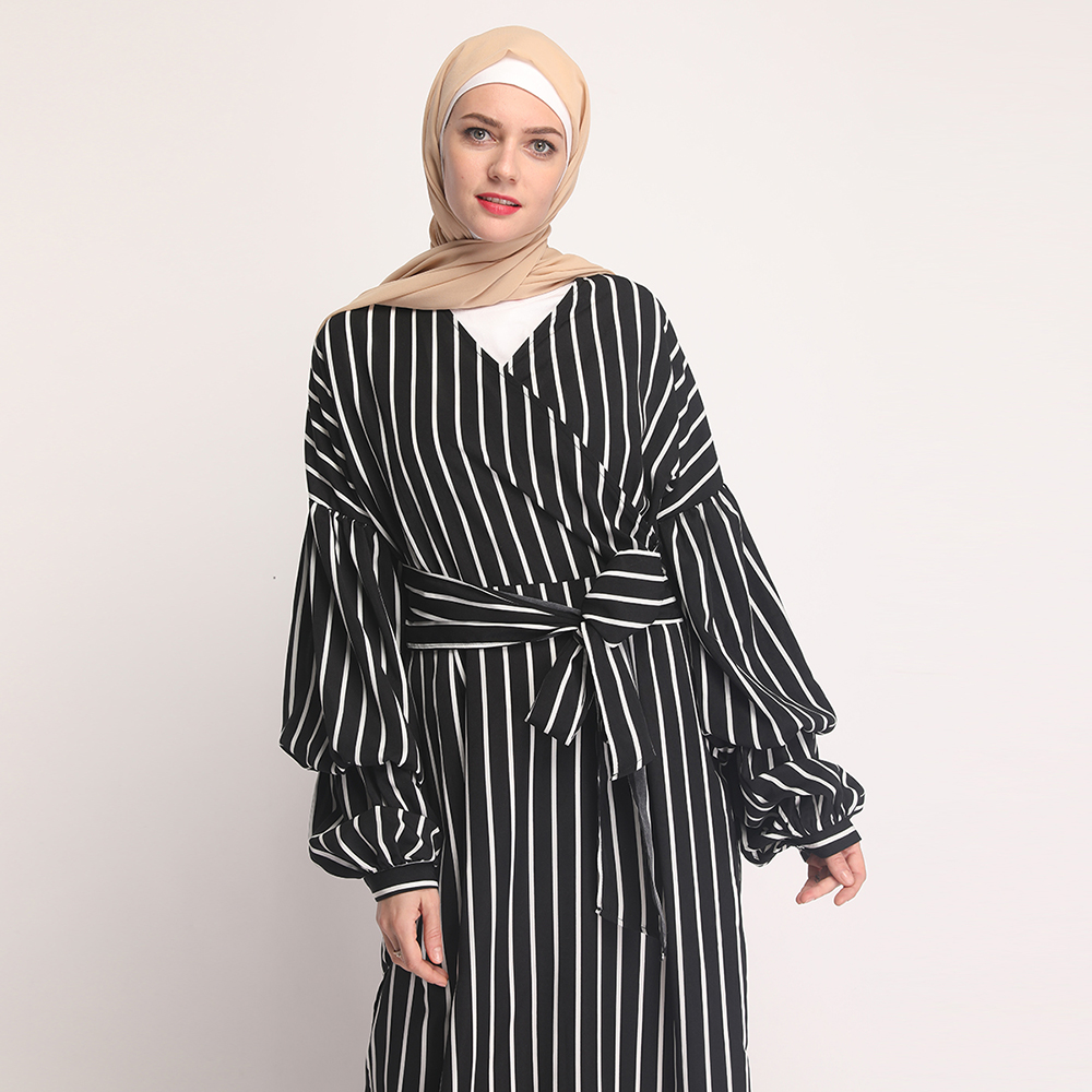 fashion  new arrival design top quality polyester and spandex Dubai Muslim dresses