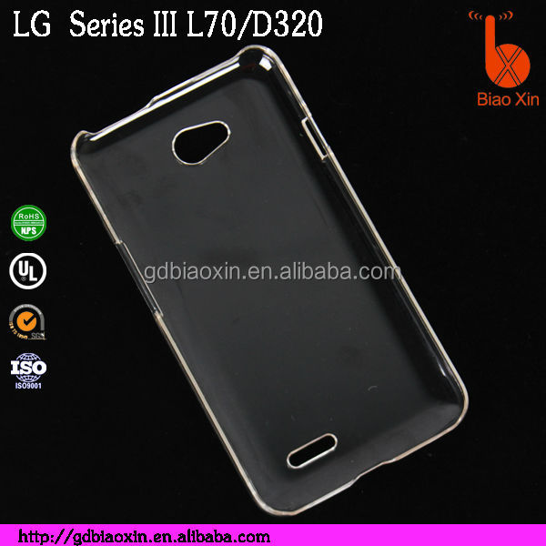 China supplier Plastic back hard covers cellphone case for LG optimus L70,&D320