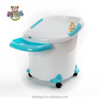 Comfortable Deep Freestanding Kids Bath Tub/large Round Plastic Baby ...