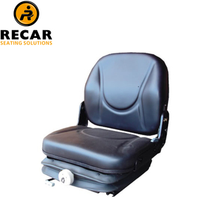 Forklift suspension seat with mechanical suspension, adjustable slide track and adjustable backrest