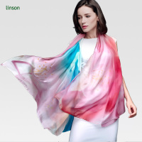 Custom Made Digital Printing Infinity Silk Chiffon Scarf