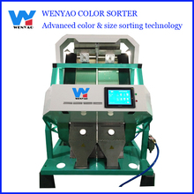2 chute Color CCD Camera dry fruits color sorter/color sorting machine manufacturer