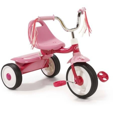Radio Flyer Ready-To-Ride Folding Tricycle, Pink (Pink)