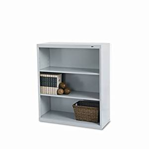 Tennsco B42PY 34-1/2 by 13-1/2 by 40-Inch Metal Bookcase with 3 Shelves, Putty