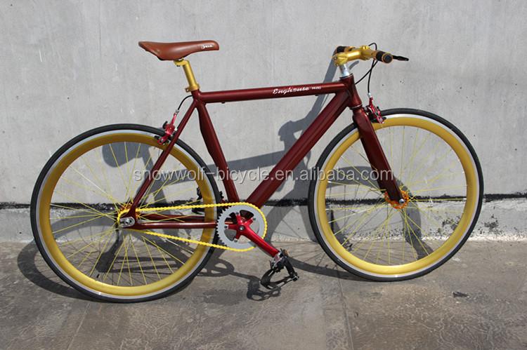 Alloy Frame Fixie Bike Aluminium Bicycle Parts Single Speed Fixed