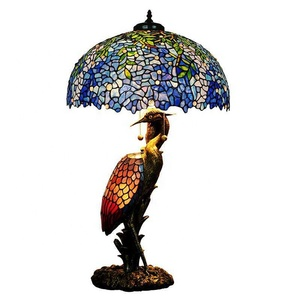 TFZ-8651ab home antique unique decorative tiffany stained glass table lamp