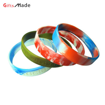 Custom silicone wristband engraved bracelets colorful rubber wrist bands