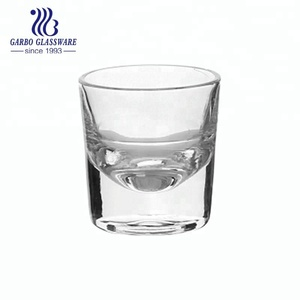 4oz thick base glass tilt cup wine drinking spirit tumbler in cheap wholesale price