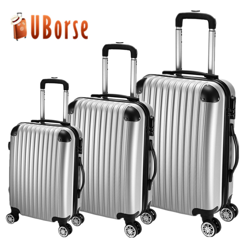 3 piece trolley luggage set,cheap luggage set,ABS PC Travel trolley luggage