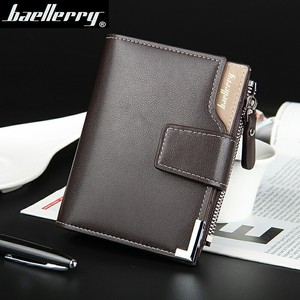 Wholesale Baellerry hot selling short pu leather men's wallet leather purse card wallet man gift baellerry wallet