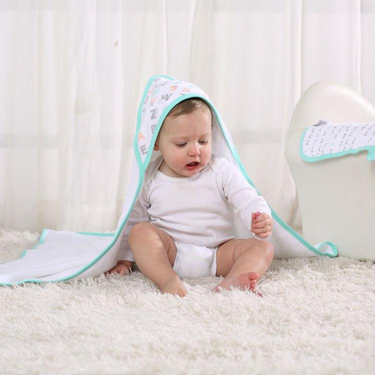 Lat Plain Hooded Poncho Towel For Kids Stock Goods Turkey Bath