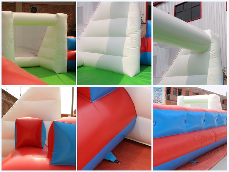Giant outdoor games inflatable soap football soccer field for kids and adult