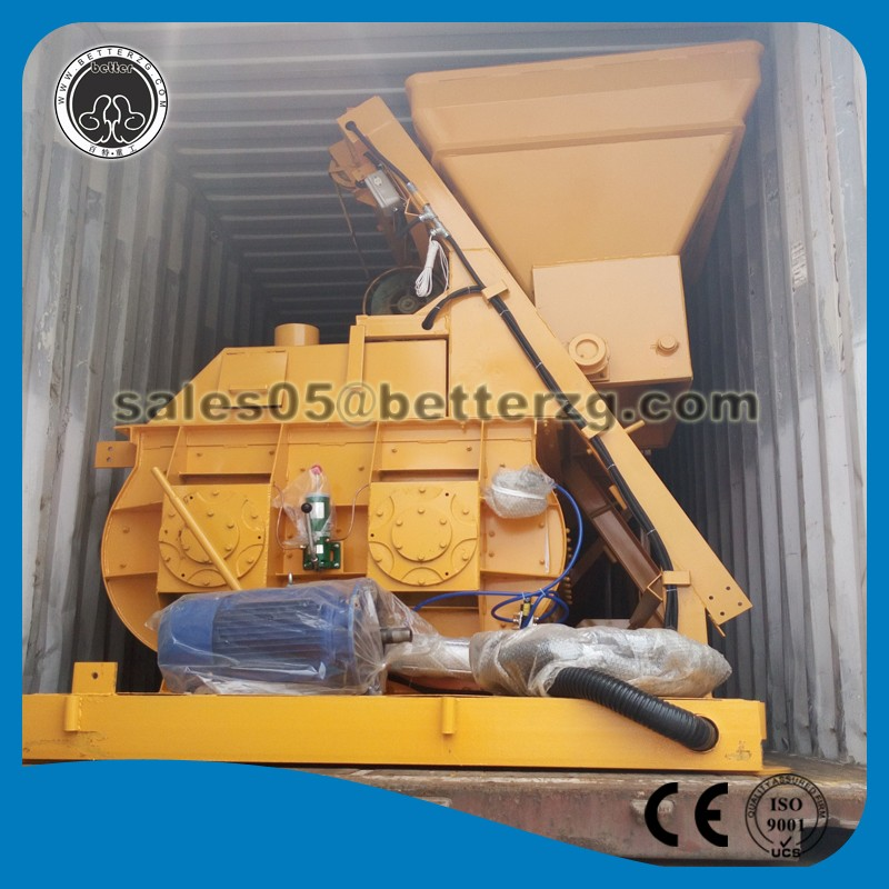 Twin shafts ce js500 concrete mixer for sale stationary