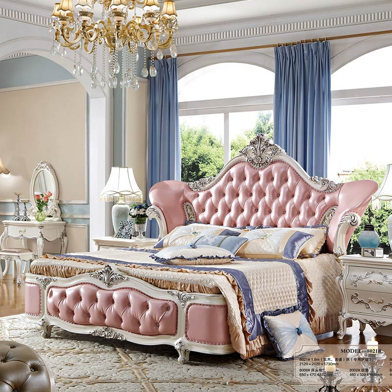 Cheap Pink Leather White French Style Bedroom Furniture Bedding Set - Buy  French Style Bedroom Furniture Set,French Style Bedding Set,Bedroom ...