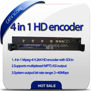CSP-3224A 4 in 1 MPEG-4 H.264 HD Encoder with SDI in