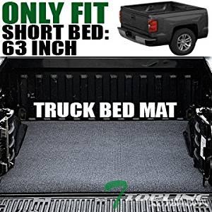 Topline Autopart Black Truck Bed Cargo Box Trunk Floor Rug Mat Carpet 00-11 Dakota 5.5 Ft Short Cab