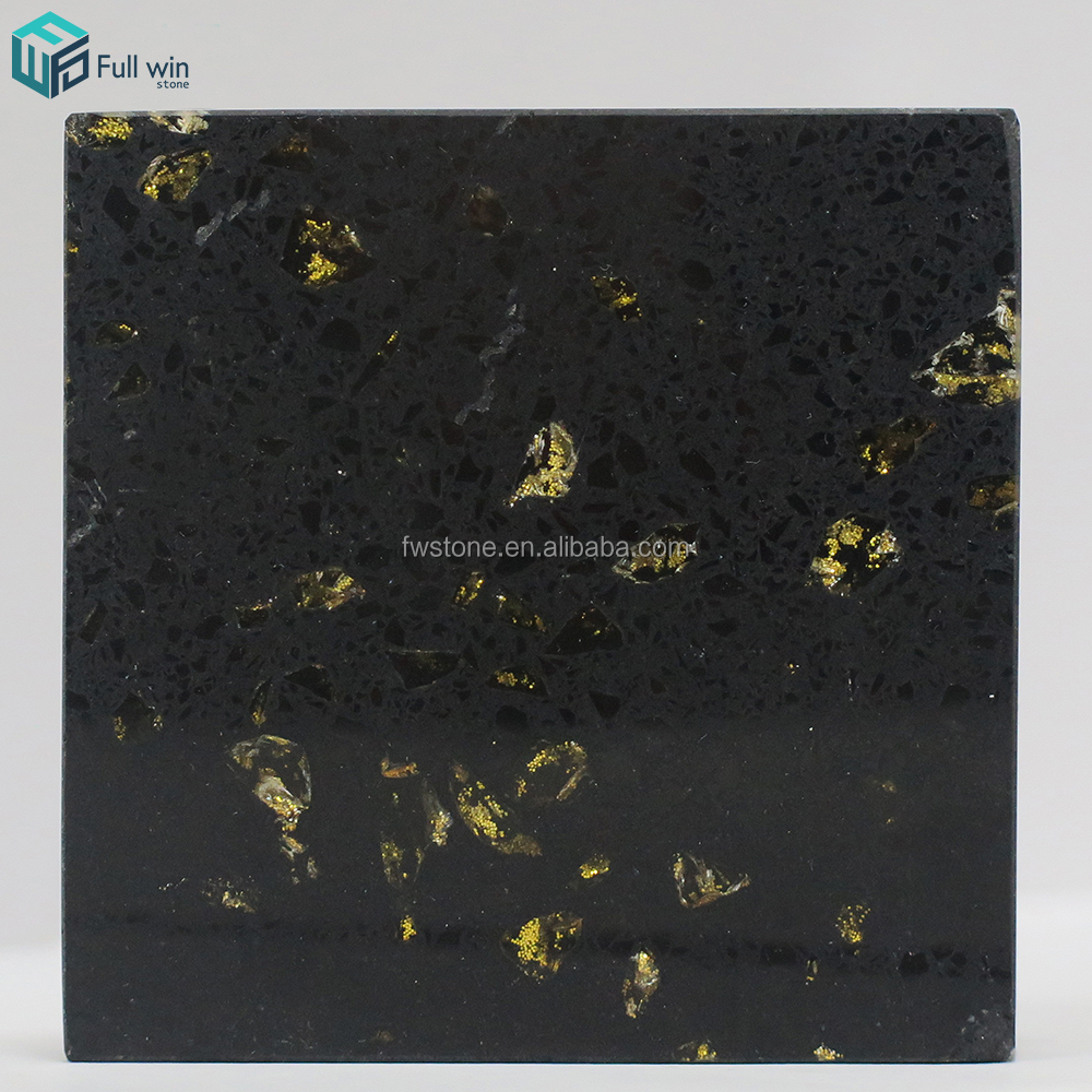 Anti-infiltration no radiation high density artificial quartzstone for table top