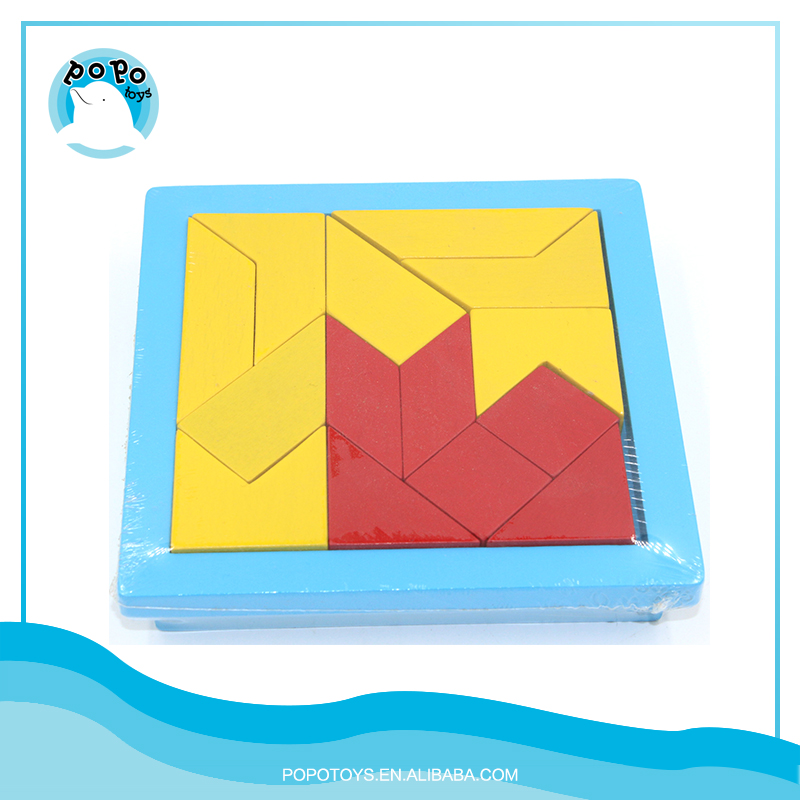 Kids toys wooden tangram puzzle play different shape