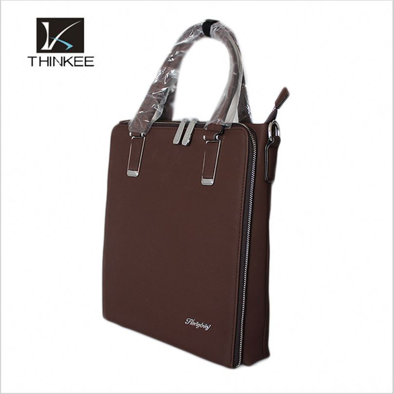 Top sale custom logo top business mens grain leather handbags for laptop