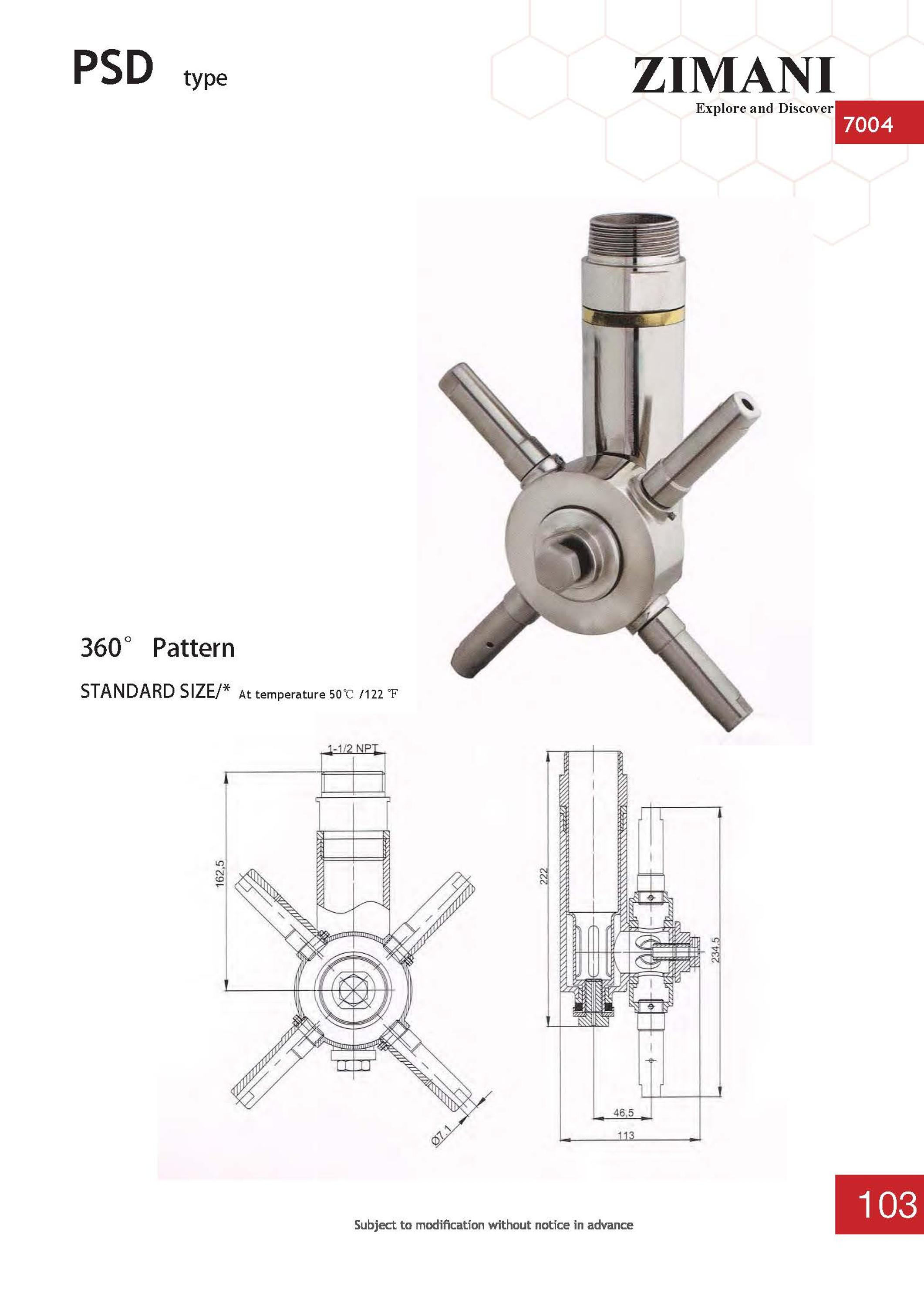 CIP 360 pattern sanitary stainless steel spray balls Tank Washer