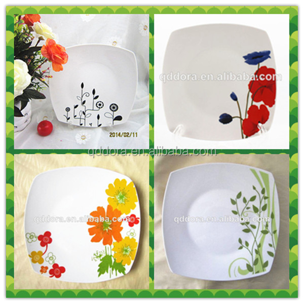 yiwu agent Squre shape dinner plate,ceramic plate made in China