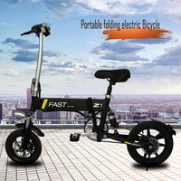 China Cost- effective 14'' 36v 250w Electric Folding Bicycle mini Pocket Bike with LED Light
