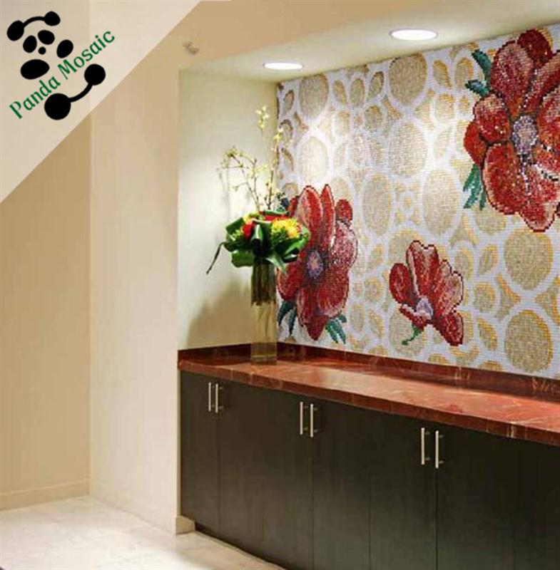 Mb smm18 a chinese handmade premium mosaic backsplash for Mural glass painting