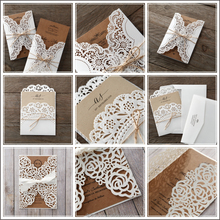 Factory sell laser cut wedding invitation
