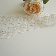 Factory supply home textile cotton eyelet lace trim