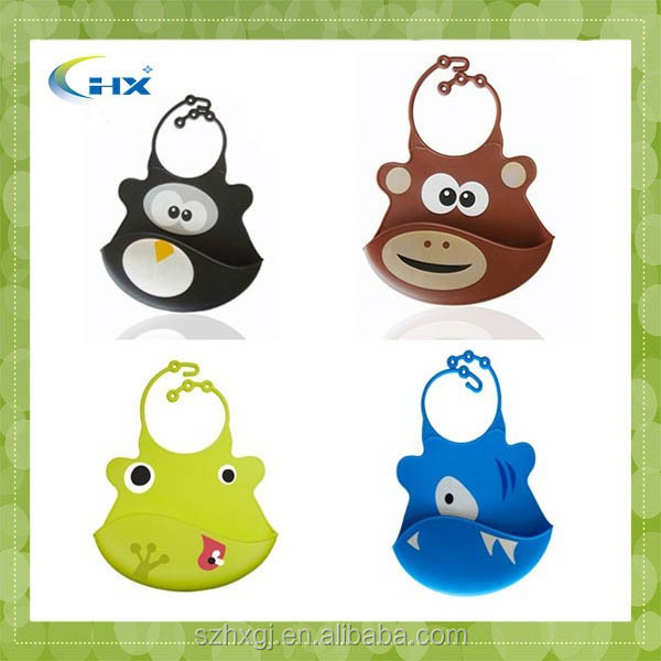 G-2015 Manufacture silicone baby bib carters with cute cartoon pattern