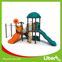 Amusement park Outdoor Playground Equipment Plastic Pool Slide & Swing