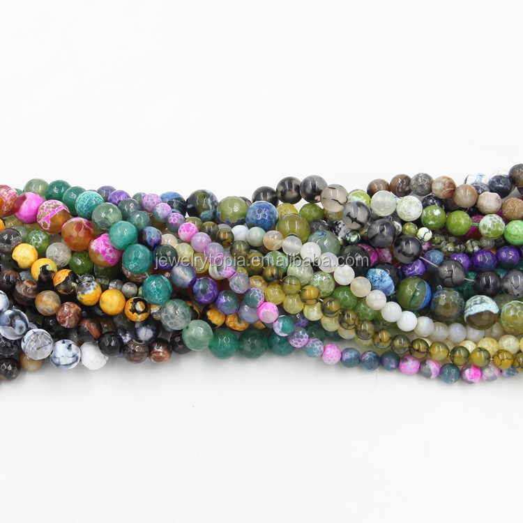 Wholesale Green Gemstone Beads Dragon Veins Agate Beads
