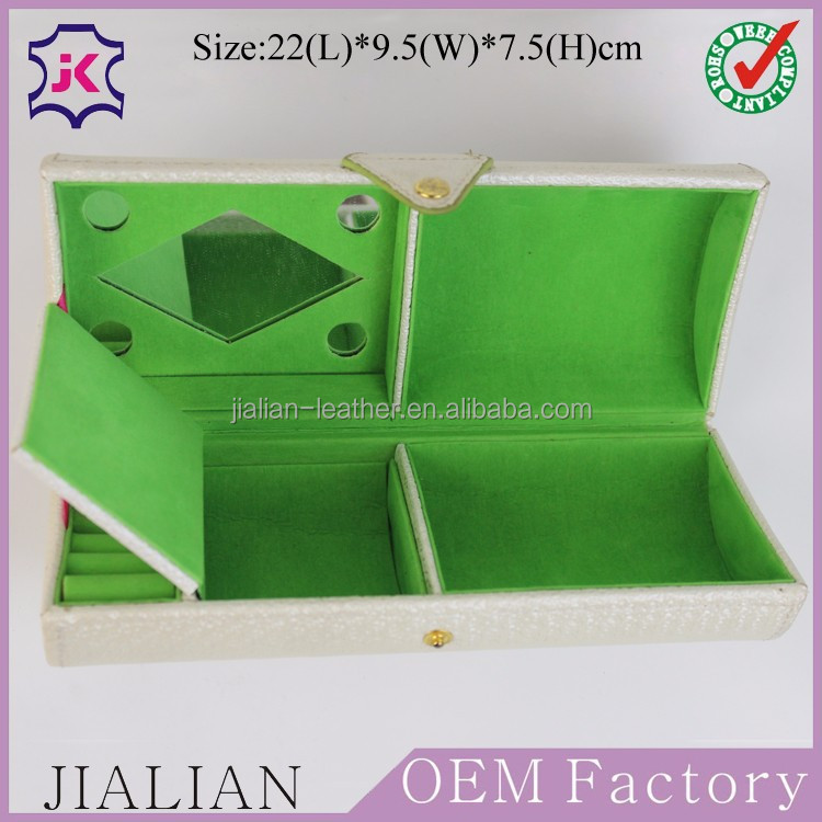 High End Competitive Price White Pyramid Jewelry Box