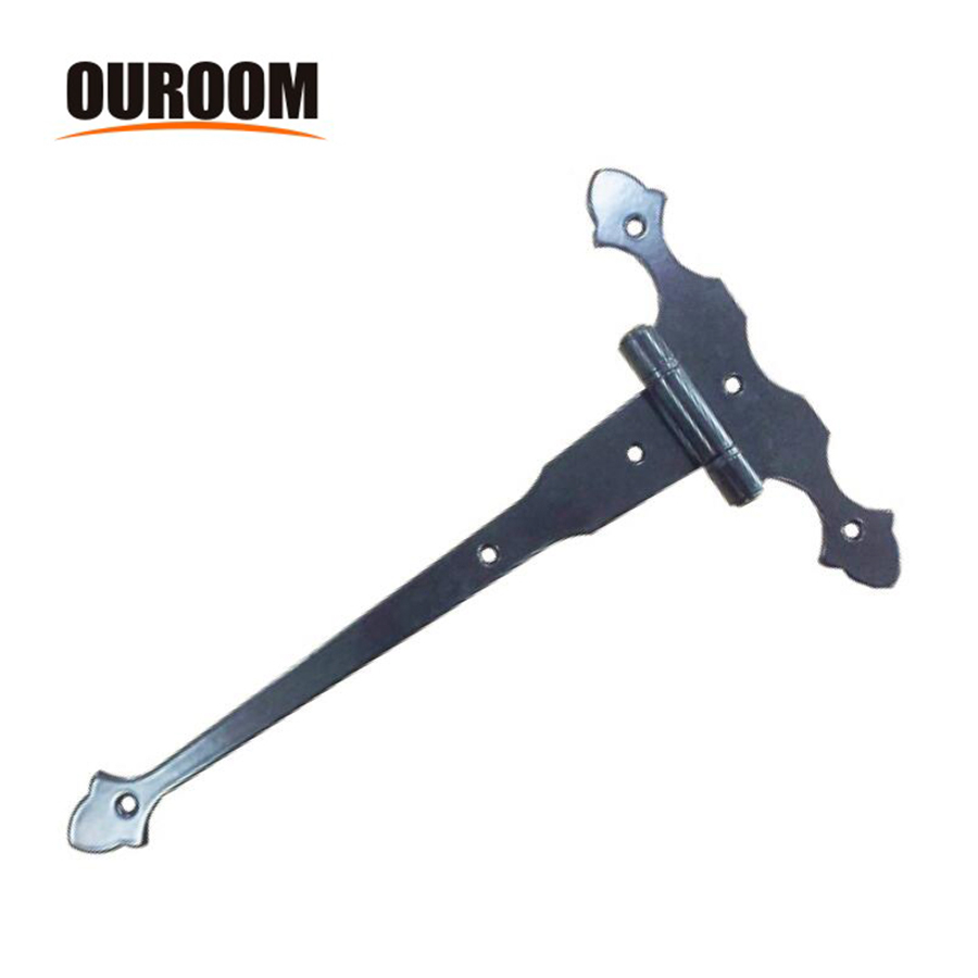 Ouroom/OEM Wholesale Products Customizable XY980 Metal Long Acorn Shed Door Strap Hinge