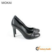 A131-D1-B10-Black peep toe female shoes